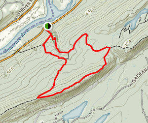 The Pahaquarry Copper Mine Trail to Appalachian Trail Loop Map