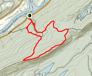 The Pahaquarry Copper Mines Loop Map
