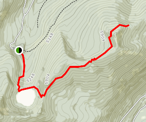 Hidden Lake and Red Top Mountain Map