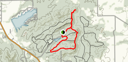 Knob Lake and Pinnacle Loop Trail Map