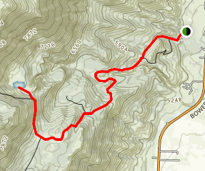 Ophir Creek Trail to Upper Price Lake Map