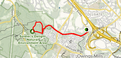 Red Run Stream Valley Trail Map