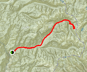 White Cap Creek to Triple Lakes Map