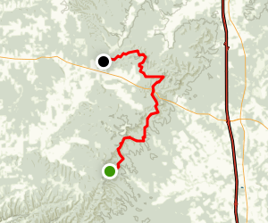 Knobstone Trail: Bartle Knob Road to New Chapel Map
