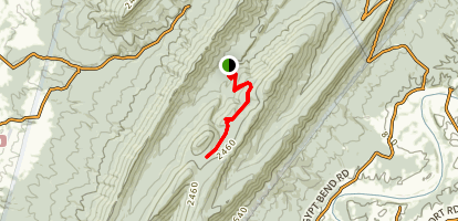 Scothorn Gap via Gap Creek Trail Map