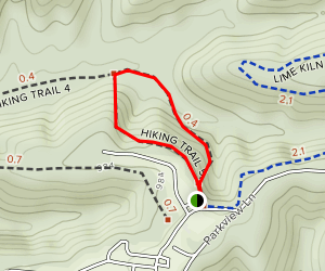 Trail 5 at Ogle Hollow Nature Preserve Trail Map