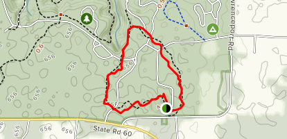 Twin Caves Trail Map