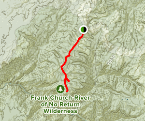 Dry Saddle to Bear Point Map