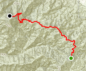 Main Divide Truck Trail to Santiago Peak Map