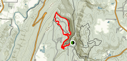 West Rim Loop Trail Map