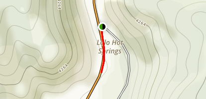Lolo Hot Springs Map
