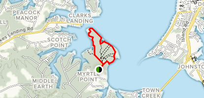 Myrtle Point Loop Map