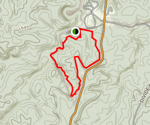 Hazard Cave and Natural Bridge Trail Map