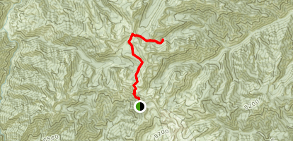 Sleeping Deer Mountain to West Fork Lakes Map