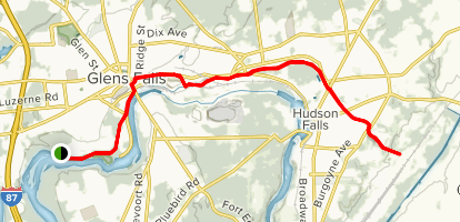 Glens Falls Feeder Canal Trail Map