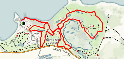 Turtle Bay and Kulima Golf Course Trails Map