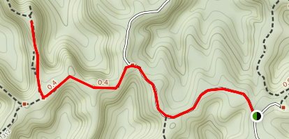 Star Gap Arch Trail Map