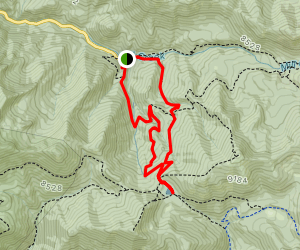 Dog Lake via Big Water and Little Water Loop Map