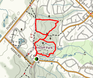 Kerncliff Park Loop Trail Map
