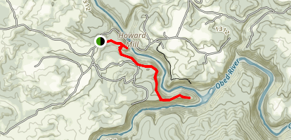 Lilly's Bluff Trail Map