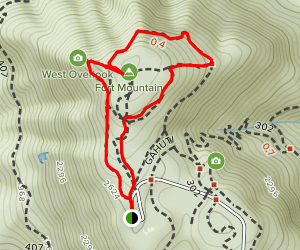 Stone Tower Trail to Stone Wall Trail Loop Map