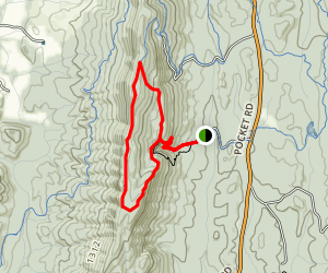 Johns Mountain/Pinhoti Trail Loop Map