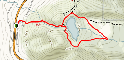 Lower Bells Canyon Reservoir Loop Map