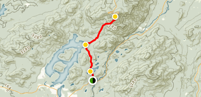 Whiteface Mountain Trail past Lake Placid and Connery Pond Map