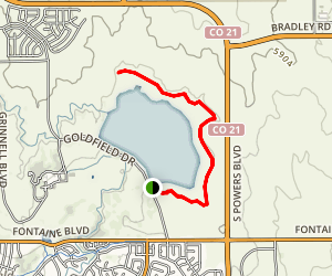 Big Johnson Reservoir  Map