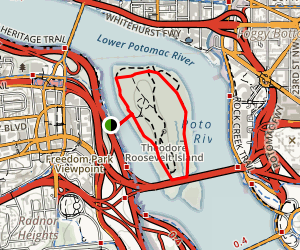 Theodore Roosevelt Island Outer Loop Map