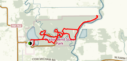 Brazos Bend State Park Trail Map