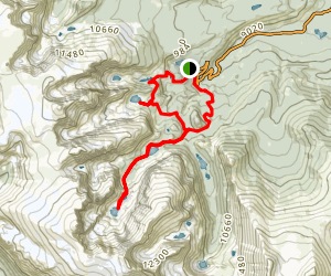 Timberline Falls and Sky Pond Trail Map
