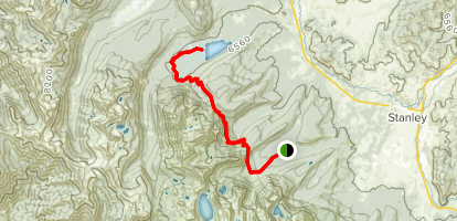 Alpine Way to Stanley Lake Trail Map
