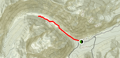 West Fork of Prairie Creek Trail Map