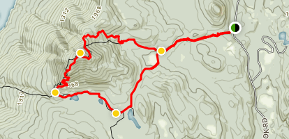 Black Mountain and Lake George Trail Map