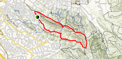 Shell Ridge - Borgess Ranch Loop Map