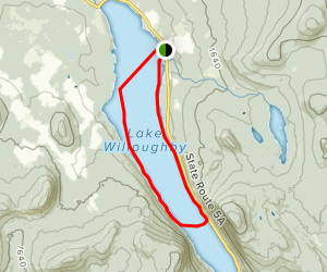 Willoughby Lake Map