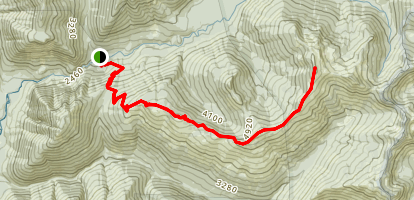 West Cady Ridge Trail to Bench Mark Mountain Map