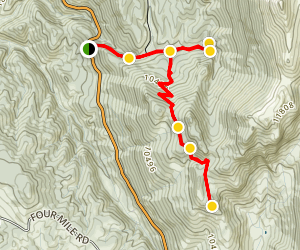 Pancake Rocks and Horsethief Falls Trail Map