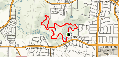Arbor Hills Nature Preserve Mountain Bike Trail  Map