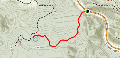 Bloom Lake Trail Map