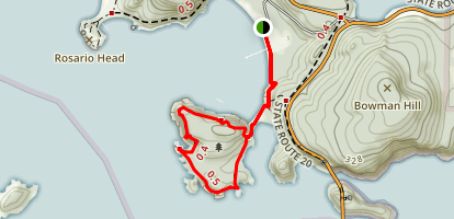 Deception Pass to Lighthouse Point Map