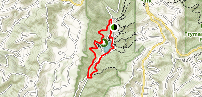 Franklin Canyon Site Trail Map