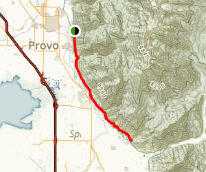 Bonneville Shoreline Trail (Provo City) Map