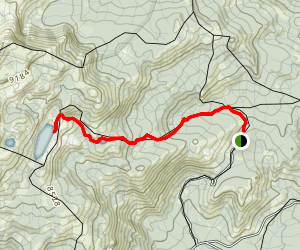 Norris Trailhead to Jackass Lakes Map