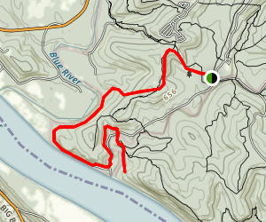 Blue River Bluff Trail Map