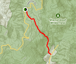 White Oak Canyon Trail Map