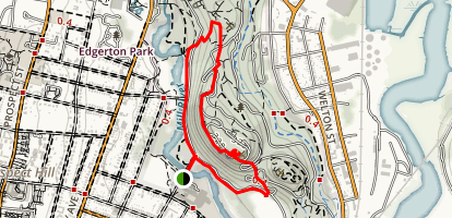 East Rock Loop Trail Map