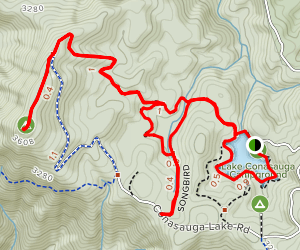 Lake Conasauga Area Trails Map
