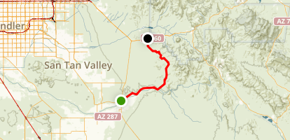Box Canyon Scenic Drive: Florence to US 60 Map